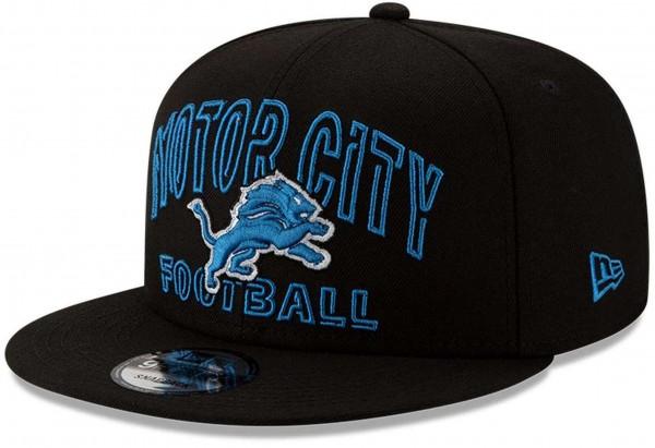 New Era - NFL Detroit Lions 2020 Draft Alternative 9Fifty Snapback Cap - Schwarz Ansicht vorne schräg links