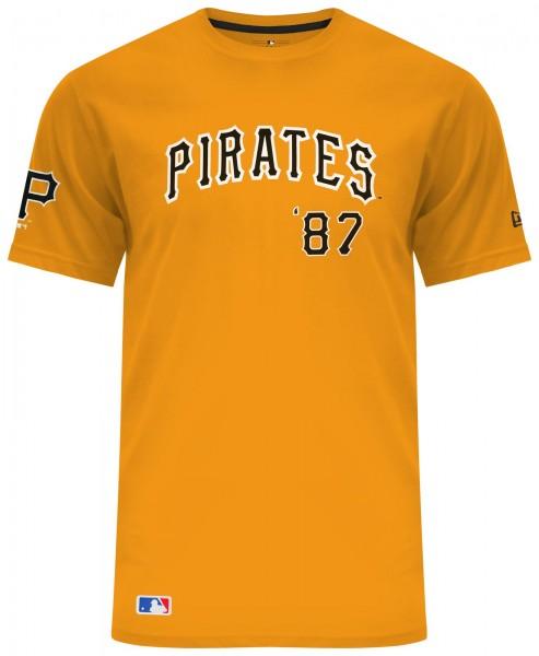 New Era - MLB Pittsburgh Pirates Script AGD T-Shirt - Gelb