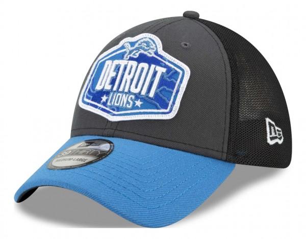 New Era - NFL Detroit Lions 2021 Draft 39Thirty Trucker Stretch Cap - Mehrfarbig Ansicht vorne schräg links