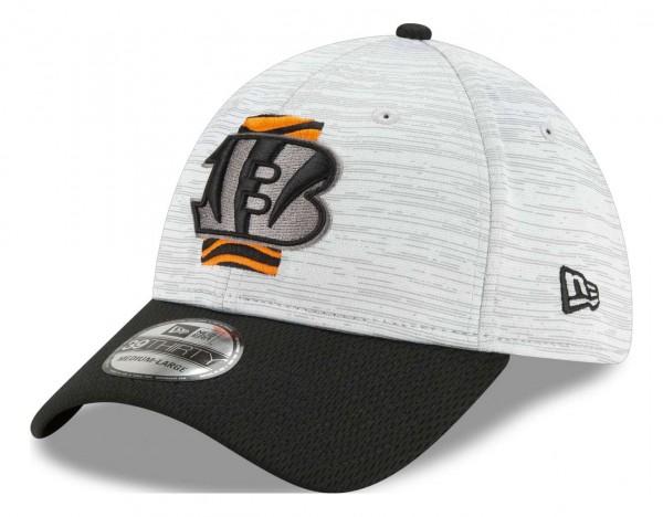New Era - NFL Cincinnati Bengals 20212 Training 39Thirty Stretch Cap - Grau-Schwarz Ansicht vorne schräg links