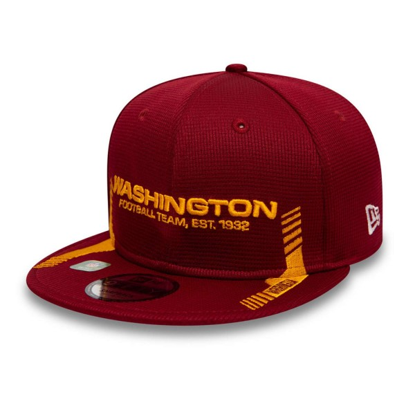 New Era - NFL Washington Football Team 2021 Sideline Home 9Fifty Snapback Cap - Rot Ansicht vorne schräg links