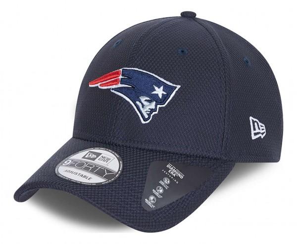 New Era - NFL New England Patriots Diamond Era 9Forty Strapback Cap - Blau Ansicht vorne schräg links