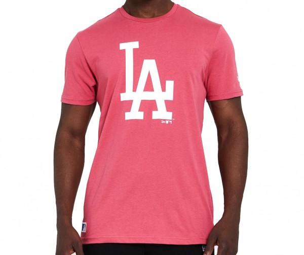 New Era - MLB Los Angeles Dodgers Seasonal Team Logo T-Shirt - Korallenrot Vorderansicht