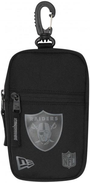 New Era - NFL Oakland Raiders Mini Pouch Tasche - Schwarz Vorderansicht