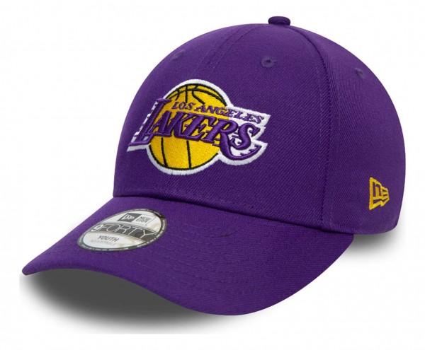 New Era - NBA Los Angeles Lakers The League 9Forty Kids Strapback Cap - Beige Ansicht vorne schräg links