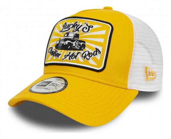 New Era - Hotrod Trucker Snapback Cap - Gelb Ansicht vorne schräg rechts