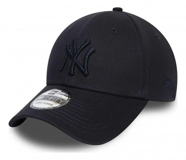New Era - MLB New York Yankees League Essential 39Thirty Stretch Cap - Blau Ansicht vorne schräg rechts