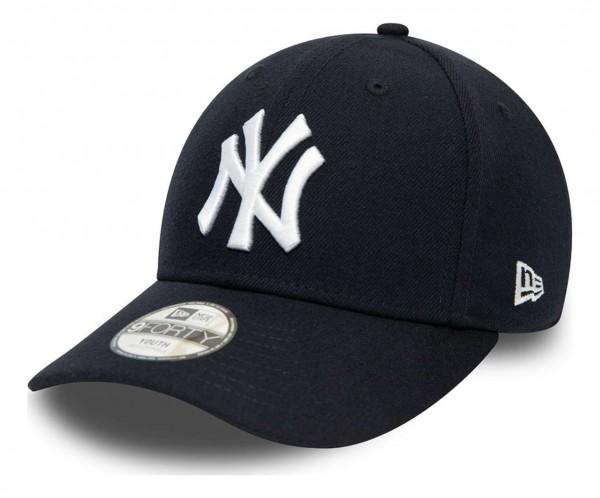 New Era - MLB New York Yankees The League 9Forty Kids Strapback Cap - Grün Ansicht vorne schräg links