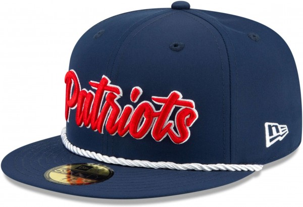 New Era - NFL New England Patriots On Field 2019 Sideline Home 9Fifty Snapback Cap - Blau Ansicht schräg links