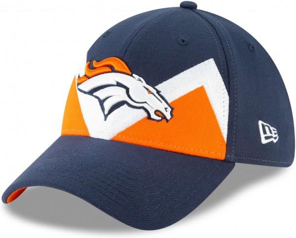 New Era - NFL Denver Broncos Draft 2019 On-Stage 39Thirty Stretch Cap - Blau Ansicht schräg links