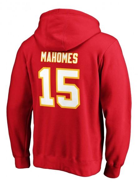 Fanatics - NFL Kansas City Chiefs Iconic Name & Number Graphic Patrick Mahomes Hoodie - Rot Rückansicht