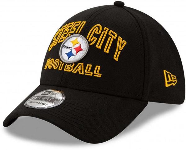 New Era - NFL Pittsburgh Steelers 2020 Draft Alternative 39Thirty Stretch Cap - Schwarz Ansicht vorne schräg links