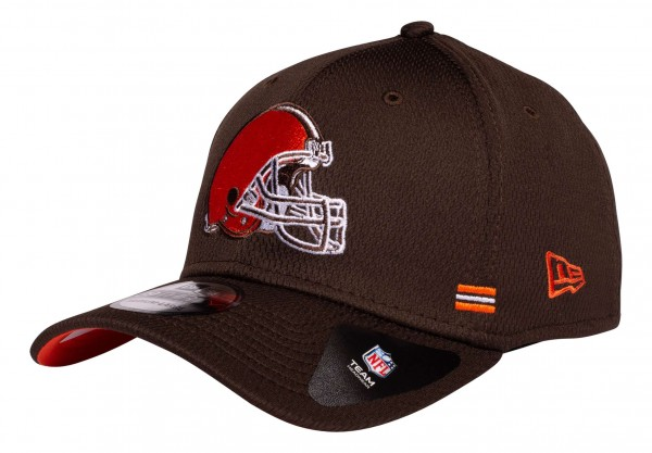 New Era - NFL Cleveland Browns OnField 2020 Sideline Home 39Thirty Stretch Cap - Braun Ansicht vorne schräg links