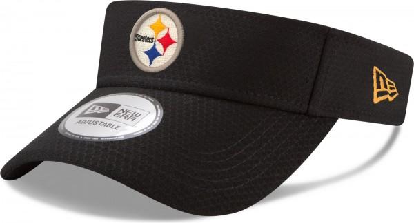 New Era - NFL Pittsburgh Steelers Official 2018 Training Visor - Schwarz seite vorne