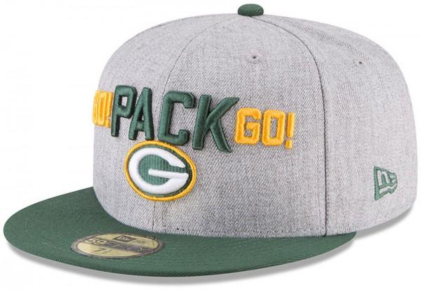 New Era - NFL Green Bay Packers Draft 2018 On Stage 59Fifty Cap - Grau-Grün