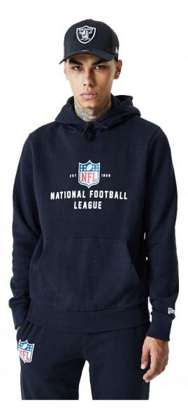 New Era - NFL Shield League Established Hoodie - Grau Vorderansicht