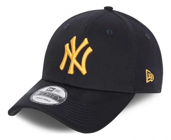 New Era - New York Yankees League Essential 9Forty Strapback Cap - Blau Ansicht vorne schräg links