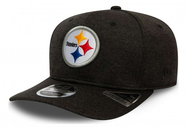 New Era - NFL Pittsburgh Steelers Total Shadow Tech 9Fifty Stretch Snapback Cap - Grau Ansicht vorne schräg links