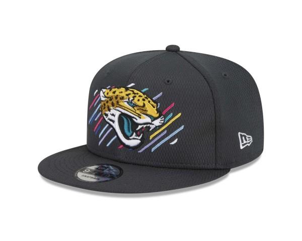 New Era - NFL Jacksonville Jaguars 2021 Crucial Catch 9Fifty Snapback Cap - Grau Ansicht vorne schräg links