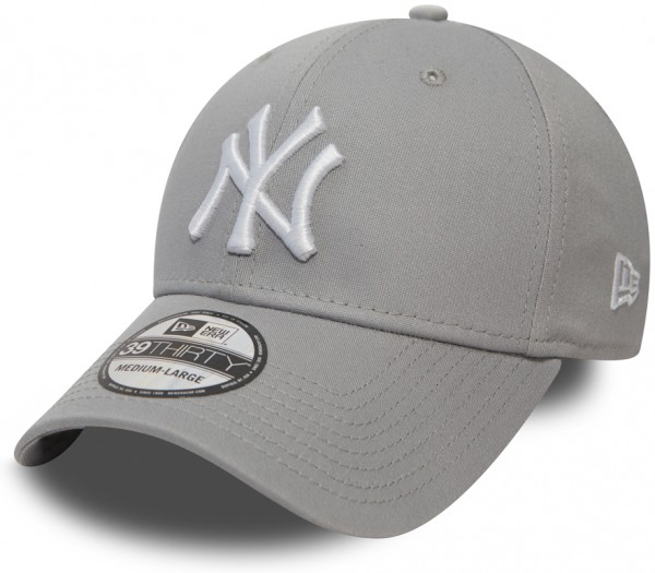 New Era - MLB New York Yankees Essential 39Thirty Cap - Grau-Weiß