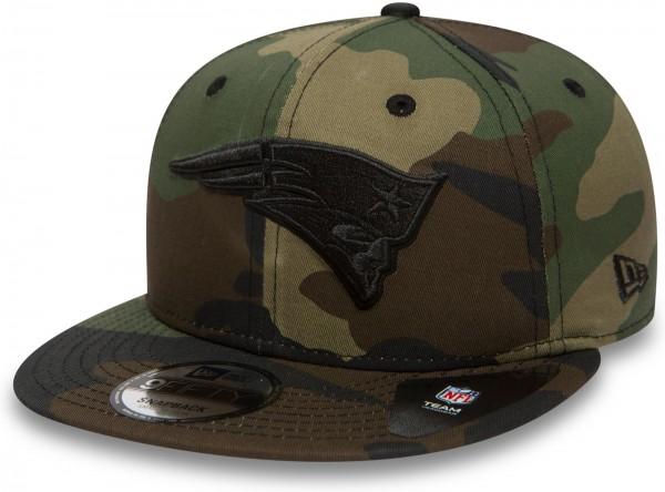 New Era - NFL New England Patriots Camo Color 9Fifty Snapback Cap - Camouflage Vorderansicht schräg rechts