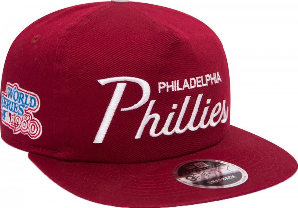 New Era - MLB Philadelphia Phillies Throwback Original Fit 9Fifty Snapback Cap - red