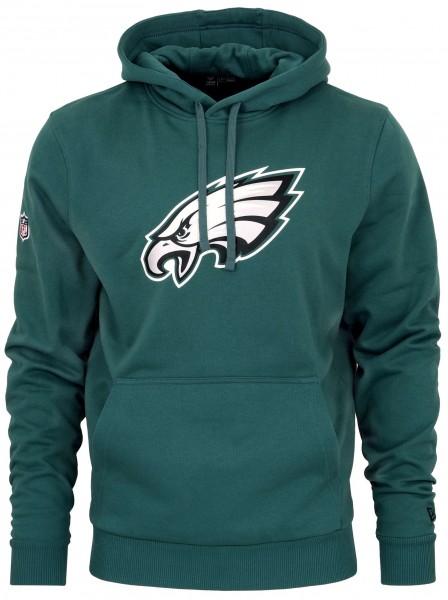New Era - NFL Philadelphia Eagles Team Logo Hoodie - Petrol Grün ansicht vorderseite