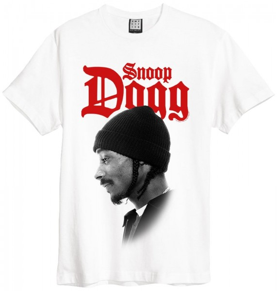 Amplified Snoop Doggy Dog Profile T-Shirt - Weiß vorderseite