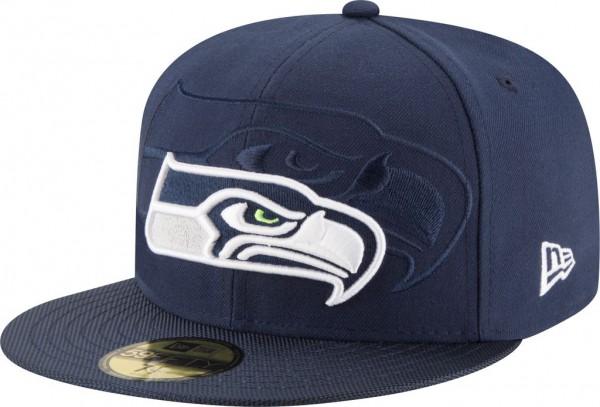 New Era - NFL Seattle Seahawks 2016/17 Sideline 59Fifty Cap - navy