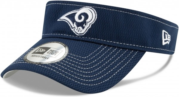 New Era - NFL Los Angeles Rams On Field 2019 Sideline Road Visor - Blau Ansicht schräg links