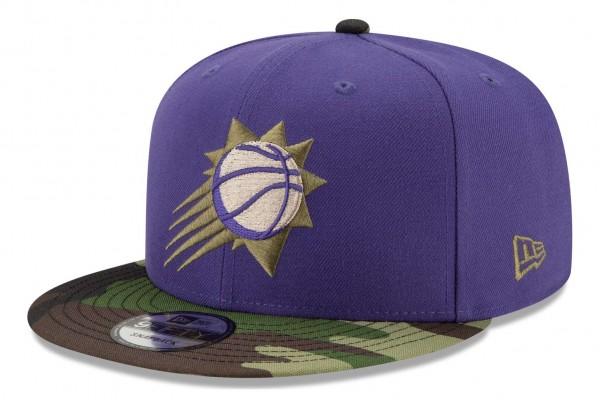 New Era - NBA Phoenix Suns ASG Camo 9Fifty Snapback Cap - Violett Ansicht vorne schräg rechts