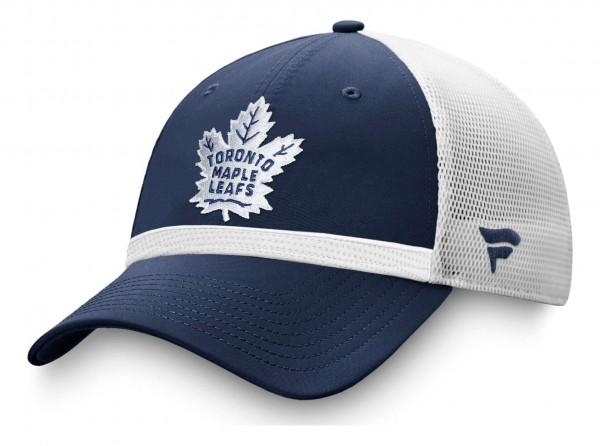 Fanatics - NHL Toronto Maple Leafs Authentic Pro Draft Structured Trucker Snapback Cap - Mehrfarbig Ansicht vorne schräg links