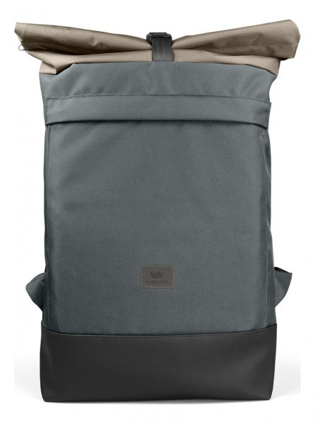 Freibeutler - Courier Bag Black Strap Tasche - Grau Vorderansicht