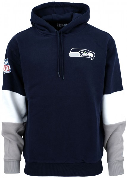 New Era - NFL Seattle Seahawks Colour Block Hoodie - Blau ansicht vorne