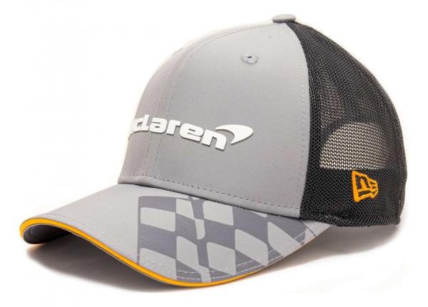 New Era - McLaren Spoecial Edition Abu Dhabi 9Fifty Stretch Snapback Cap - Grau Ansicht vorne schräg rechts