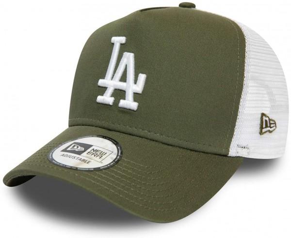 New Era - MLB Los Angeles Dodgers Essential A-Frame Trucker Snapback Cap - Grün Ansicht vorne links