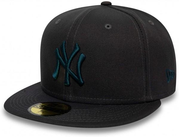 New Era - MLB New York Yankees Essential 59Fifty Fitted Cap - Grau Ansicht vorne links