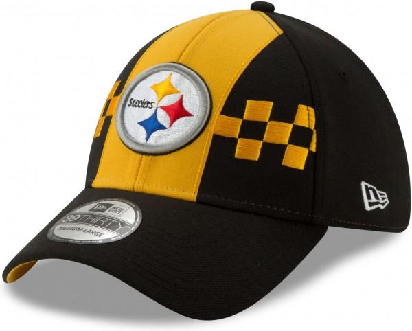 New Era - NFL Pittsburgh Steelers Draft 2019 On-Stage 39Thirty Stretch Cap - Schwarz Ansicht schräg links