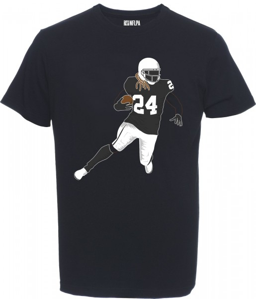 Majestic Athletic - NFL Oakland Raiders Lynch #24 N&N Silhouette T-Shirt - black