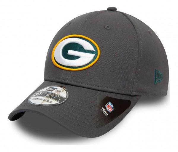 New Era - NFL Green Bay Packers Team 39Thirty Stretch Cap - Grau Ansicht vorne schräg links