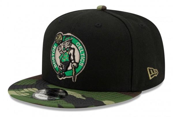 New Era - NBA Boston Celtics ASG Camo 9Fifty Snapback Cap - Schwarz Ansicht vorne schräg rechts
