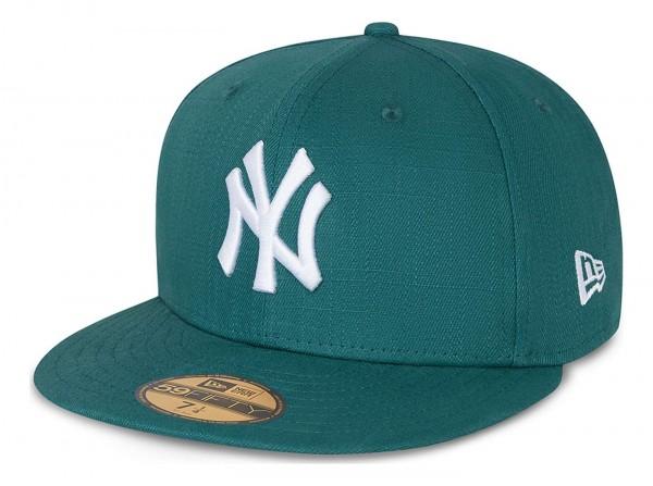 New Era - MLB New York Yankees Cotton Ripstop 59Fifty Fitted Cap - Grün Ansicht vorne schräg links