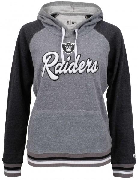 New Era - NFL Oakland Raiders Damen Hoodie - Grau Vorderansicht