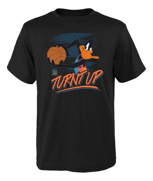Outerstuff - Looney Tunes Space Jam Turned Up T-Shirt - Schwarz Vorderansicht