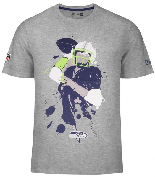 New Era - NFL Seattle Seahawks Q Back Splash T-Shirt - grey