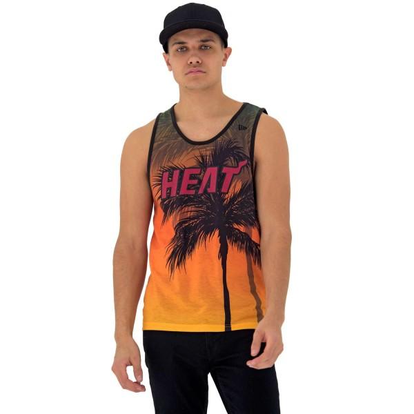 New Era - NBA Miami Heat Summer City Tank Top - Mehrfarbig Vorderansicht