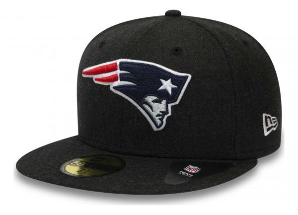 New Era - NFL New England Patriots Heather 59Fifty Fitted Cap - Grau Ansicht vorne schräg links
