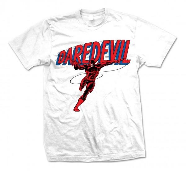 Bravado - Marvel Comics Daredevil Logo T-Shirt - Weiß Vorderansicht