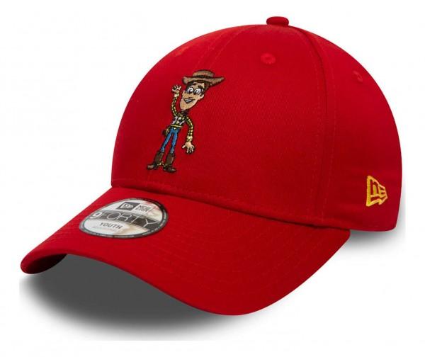 New Era - Disney Toy Story Small Logo Woody 9Forty Kids Strapback Cap - Rot Ansicht vorne schräg links
