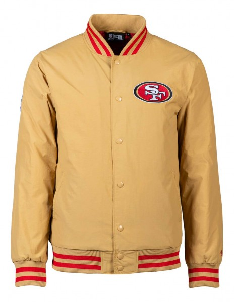 New Era - NFL San Francisco 49ers Team Wordmark GS Bomber Jacke - Gold Vorderansicht